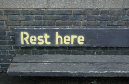 Rest here bench