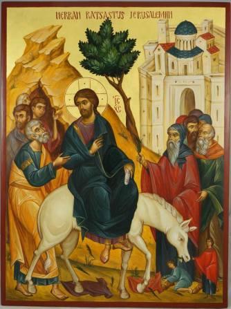 Herran_Ratsastus_Jerusalemiin_Palm_Sunday_ride_to_Jerusalem_Hand-Painted_Byzantine_Icon_11